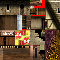 Town building image sheet for Darkstone